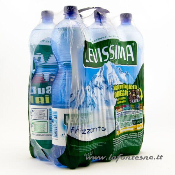 Acqua Levissima Frizzante 1,5 litri PET (6 bottiglie)