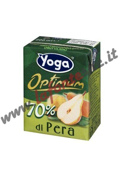 Succo Yoga Optimum Pera Brick 200 ml. - Confezione da 3 (con cannuccia)