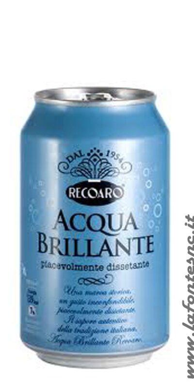Acqua Brillante Recoaro 33 cl. Lattina