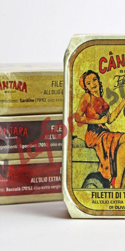 Càntara Filetti di sgombro all' olio extravergine di oliva 120 Gr.