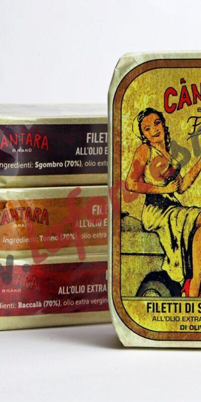 Càntara Filetti di tonno all' olio extravergine di oliva 120 Gr.