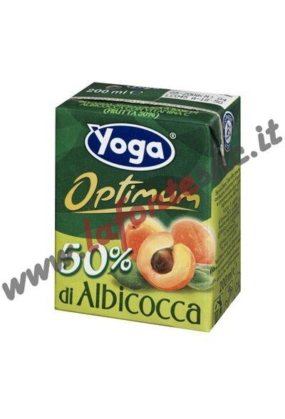 Succo Yoga Optimum Albicocca Brick 200 ml. - Confezione da 3 (con cannuccia)