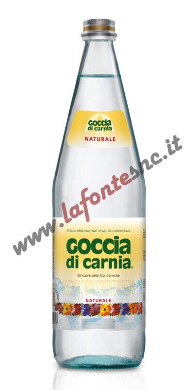 Acqua Goccia di Carnia Naturale 1 litro vetro (12 bottiglie)