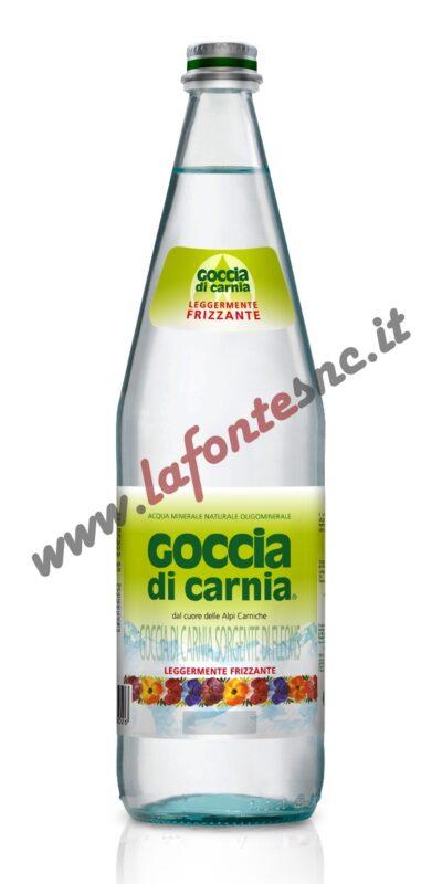 Acqua Goccia di Carnia Lievemente Frizzante 1 litro vetro (12 bottiglie)
